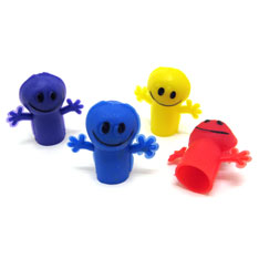 smiley finger puppets
