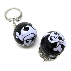 pirate globe keychain