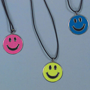 Neon smiley face necklace smiley face necklace aloadofball Choice Image